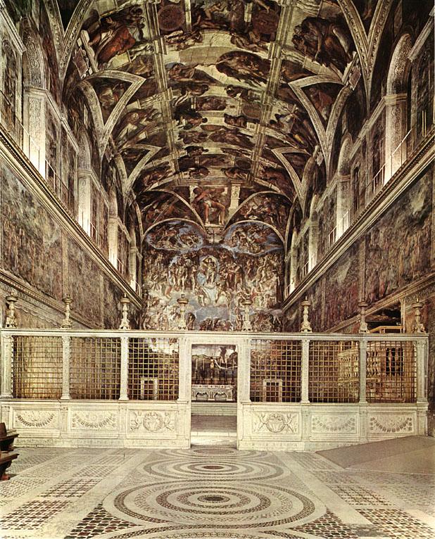 Roma Vaticano Cappella Sistina Interno