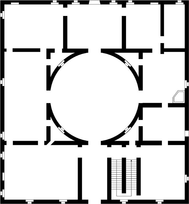 La camera degli sposi pianta della casa del mantegna for La casa degli sposi