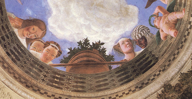 La camera degli sposi particolare del soffitto for Oculo della camera degli sposi